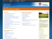 NSW Agriculture - Field crops and pastures screen shot