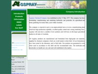 Agspray Chemical Company screen shot